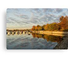 Autumn Splendor at the Marina Canvas Print