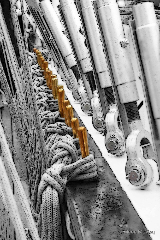 Tall Ship Cleats by Eileen McVey