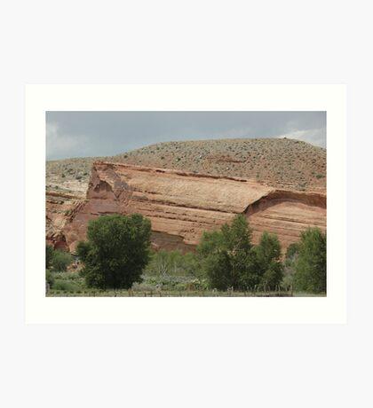 Red Rocks and Sage Art Print