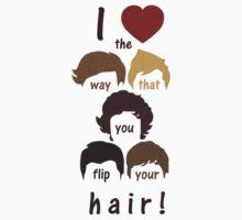 I heart the way that you flip your hair Baby Tee
