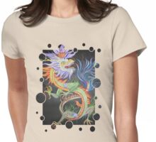 Beautiful Chinese Dragon Womens Fitted T-Shirt