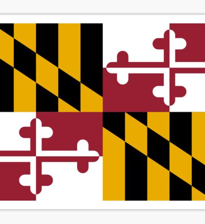 Maryland USA State Flag Baltimore Annapolis Duvet Cover T-Shirt Sticker Sticker