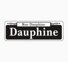 Dauphine St., New Orleans Street Sign, USA One Piece - Short Sleeve