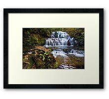 Purakaunui Falls - Southland, South Island, New Zealand Framed Print
