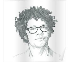 Richard Ayoade Sketch (Large) Poster
