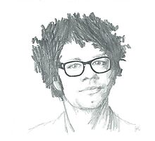 Richard Ayoade Sketch (Large) Photographic Print