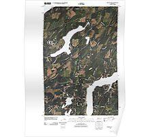 USGS Topo Map Washington State WA Mason Lake 20110422 TM Poster