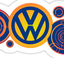 Dr Who VW Mash Up Tee - Gallifrey Volkswagen Sticker