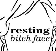 Resting Bitch Face (RBF) Sticker