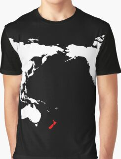World Map New Zealand Graphic T-Shirt