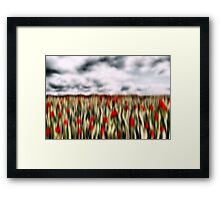 'Storm Over Poppies' Framed Print