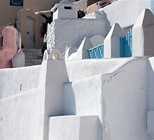 Pastels of Oia by phil decocco