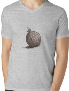 Sad Onion Mens V-Neck T-Shirt