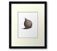 Sad Onion Framed Print