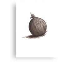 Sad Onion Canvas Print