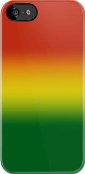 Rasta Colours Case - Horizontal  by Jenifer Jenkins