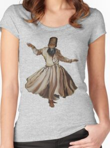 Whirling Dervish Conveys God's Spiritual Gift  Women's Fitted Scoop T-Shirt