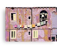 The Essence of Croatia - Pastel Houses of Dubrovnik Canvas Print