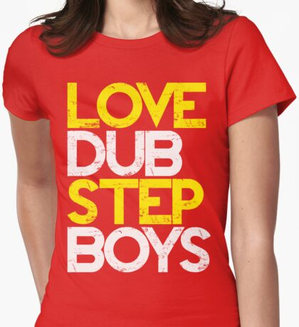Love Dubstep Boys (yellow) Womens Fitted T-Shirt
