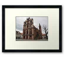 Historical Town Hall Framed Print