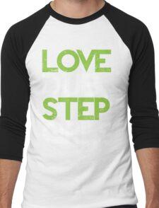 Love Dubstep Girls (neon green) Men's Baseball ¾ T-Shirt
