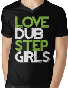 Love Dubstep Girls (neon green) Mens V-Neck T-Shirt