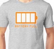 Battery Level   Battery Full Unisex T-Shirt