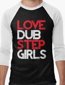 Love Dubstep Girls (red) Men's Baseball ¾ T-Shirt