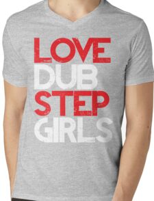Love Dubstep Girls (red) Mens V-Neck T-Shirt