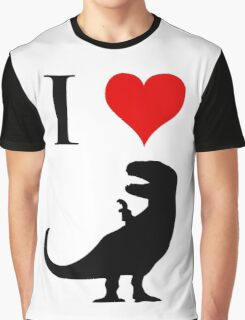 I Love Dinosaurs (small) Graphic T-Shirt