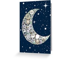 Button Moon (Magenta Rose designs) Greeting Card