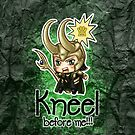 Loki Chibi - Kneel before me -iPhone cases by morigirl