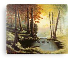 Autumn Backwater Pool Canvas Print