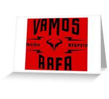 "Rafael Nadal ""Pasion&Respeto"" Greeting Card"