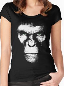 Apes Will Rise White Women's Fitted Scoop T-Shirt
