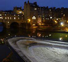 Pulteney Bridge at night - City of Bath. by Mark Haynes Photography