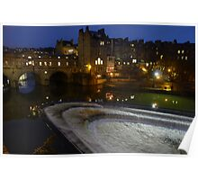 Pulteney Bridge at night - City of Bath. Poster