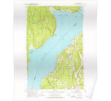 USGS Topo Map Washington State WA Lofall 242031 1953 24000 Poster