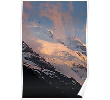 Sunset on Mont Blanc taken with a 550D Cannon 55 to 250 Lens Poster
