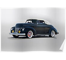 1940 Ford Convertible 'Hopped Up Fifties Style' Poster