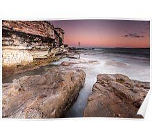 North Bondi at sunset Poster