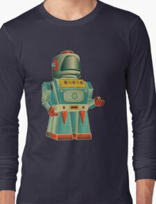 vintage robot Long Sleeve T-Shirt