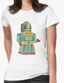vintage robot Womens Fitted T-Shirt