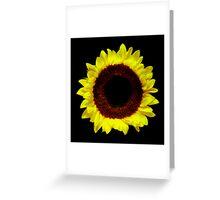 Sunflower Portrait. Greeting Card