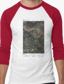 USGS Topo Map Washington State WA Boundary Mountain 20110505 TM Men's Baseball ¾ T-Shirt