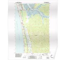 USGS Topo Map Washington State WA Grayland 241404 1956 24000 Poster