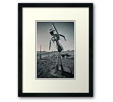 Robot Snapshots Framed Print