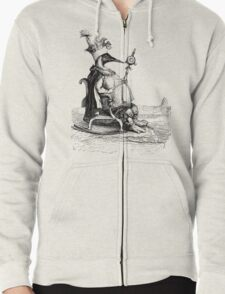 King of the Penguins Zipped Hoodie