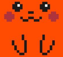 Pikachu Face 8bit Kids Clothes