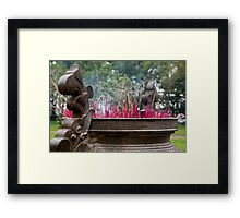 Ancestral Incense Framed Print